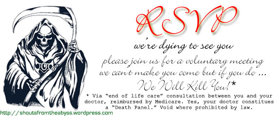 Death panel invitation