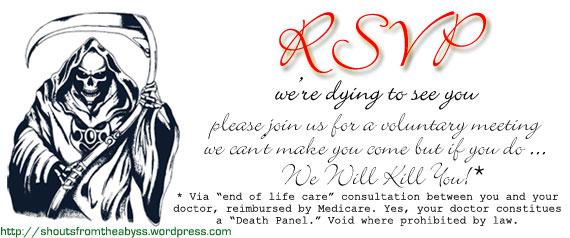 Death panel invitation