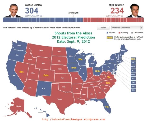 Shoutabyss Electoral Prediction Map
