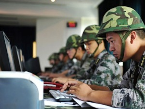 "The Chinese army participates in ""digital war games."""